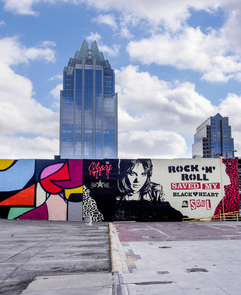 Shephard Fairey Rock'N Roll Mural